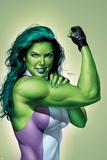 She-Hulk No.9 Cover: She-Hulk Print by Mike Mayhew