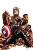 Captain America No.27 Cover: Captain America, Winter Soldier and Falcon Poster