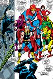 Giant-Size Avengers No.1 Group: Thor, Captain America, Hawkeye, Black Panther and Vision Plakater av John Buscema