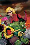 The Mighty Avengers No.23 Cover: Vision, Hulk and Stature Posters by Khoi Pham