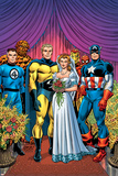 New Avengers No.8 Cover: Captain America, Sentry, Mr. Fantastic, Thing, Iron Man and Spider-Man Pósters por David Finch
