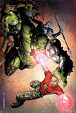 Avengers: The Initiative No.4 Cover: Hulk and Hardball Posters by Jim Cheung