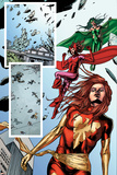 Fantastic Force No.2 Group: Phoenix, Scarlet Witch and Polaris Print by Steve Kurth