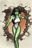 She-Hulk No.1 Cover: She-Hulk Plakat autor Adi Granov