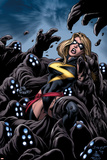 The Mighty Avengers No.11 Cover: Ms. Marvel Poster by Mark Bagley