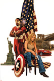 Captain America No.49 Cover: Falcon, Carter and Sharon Posters by Steve Epting