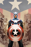 Captain America No.45 Cover: Captain America Reprodukcje autor Steve Epting