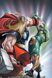 Avengers: The Initiative No.22 Cover: Thor and Gauntlet Prints by Humberto Ramos