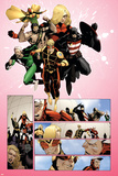 The Mighty Avengers No.32 Group: Wasp, Quicksilver, U.S. Agent, Hercules, Stature and Vision Prints by Khoi Pham