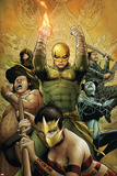 The Immortal Iron Fist No.22 Cover: Iron Fist Charging Photo by Patrick Zircher