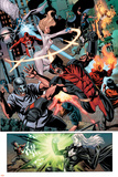 Dark Avengers No.7 Group: Wolverine, Dagger, Avalanche and Weapon Omega Print by Luke Ross