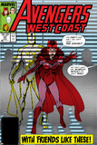Avengers West Coast No.47 Cover: Scarlet Witch and Vision Posters by John Byrne