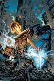 Marvel Knights 4 No.18 Cover: Ramades, Mr. Fantastic, Invisible Woman, Human Torch and Thing Láminas por Jim Muniz
