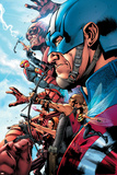 The Ultimates 2 No.1 Cover: Captain America Poster af Bryan Hitch