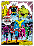 Giant-Size Avengers No.1 Group: Iron Man Posters by Don Heck