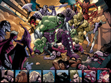 Avengers: The Initiative No.4 Group: Hulk, Korg, Miek, No-Name, Hiroim and Elloe Kaifi Poster by Stefano Caselli