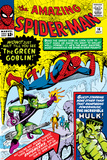 Amazing Spider-Man No.14 Cover: Spider-Man, Green Goblin and Hulk Posters by Steve Ditko