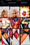 Ms. Marvel No.22 Cover: Ms. Marvel, Binary and Warbird Posters by Greg Horn
