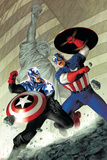 Captain America No.40 Cover: Captain America Posters by Steve Epting