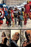 New Avengers No.17 Group: Ms. Marvel, Spider-Man, Wolverine, Iron Man, and Luke Cage Prints by Mike Deodato