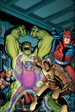 Avengers Classic No.2 Cover: Hulk, Giant Man, Iron Man, Thor and Space Phantom Prints by Arthur Adams