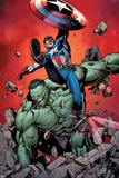 Ultimate Avengers No.4 Cover: Captain America, Hulk, Red Wasp and Black Widow Print by Carlos Pacheco
