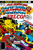 Captain America And The Falcon No.205 Cover: Captain America, Falcon and Agron Fighting and Flying Prints by Jack Kirby