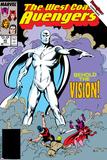 Avengers West Coast No.45 Cover: Vision Bilder av John Byrne
