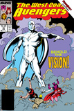 Avengers West Coast No.45 Cover: Vision Photo by John Byrne