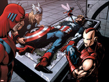 Avengers Finale No.1 Group: Captain America, Giant Man, Iron Man, Thor and Wasp Poster by Neal Adams