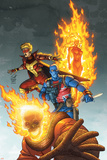 Avengers No.83 Cover: Union Jack, Blazing Skull, Spitfire, Human Torch and Invaders Posters by Scott Kolins