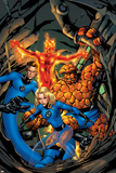 Fantastic Four No.527 Cover: Thing, Mr. Fantastic, Human Torch and Invisible Woman Print by Mike McKone