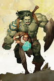 Incredible Hulk No.601 Cover: Banner, Bruce and Skaar Stretching Plakater af Ariel Olivetti