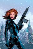 Black Widow No.1 Cover: Black Widow Fighting Posters by Greg Land