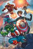 Avengers No.84 Group: Captain America, She-Hulk, Lionheart, Iron Man, Hawkeye and Avengers Posters by Scott Kolins