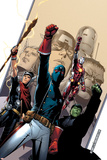 Young Avengers No.2 Cover: Patriot, Hulkling, Iron Lad, Wiccan, Young Avengers and Asgardian Posters by Jim Cheung