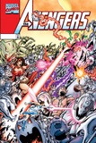 Avengers No.20 Cover: Ultron, Scarlet Witch, Wonder Man, Vision, Wasp and Avengers Posters by George Perez