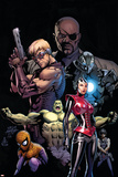 Ultimate Avengers No.3 Cover: Red Wasp, Hulk, Spider-Man, Hawkeye, Nick Fury and War Machine Posters by Carlos Pacheco