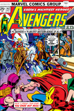 Avengers No.142 Cover: Thor, Hawkeye, Iron Man, Rawhide Kid, Kid Colt and Avengers Affiche par George Perez