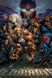 Ultimatum No.3 Cover: Magneto, Sabretooth, Madrox, Mystique, Blob, Quicksilver and Lorelei Poster by David Finch