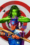 She-Hulk No.2 Cover: She-Hulk and Hawkeye Poster