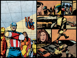 Pulse No.12 Group: Captain America, Spider Woman, Spider-Man, Iron Man, Wolverine and New Avengers Posters by Michael Gaydos