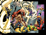 Avengers Thunderbolts No.5 Group: Atlas, Moonstone, Hawkeye, Songbird, Thunderbolts and Avengers Prints by Tom Grummett