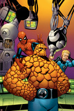 Fantastic Four No.513 Cover: Thing, Spider-Man, and Johnny Storm Prints by Mike Wieringo