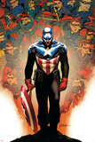 Captain America No.50 Cover: Captain America Posters by Steve Epting