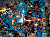 Fantastic Four No.571 Group: Mr. Fantastic, Silver Surfer and Galactus Print by Dale Eaglesham