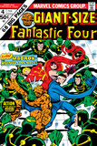 Giant-Size Fantastic Four No.4 Cover: Madrox, Medusa, Mr. Fantastic, Thing and Human Torch Fighting Prints by John Buscema