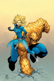Tales Of The Thing No.3 Cover: Thing and Invisible Woman Posters by Randy Green