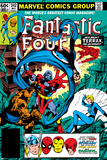 Fantastic Four No.242 Cover: Terrax, Human Torch, Thing, Invisible Woman and Mr. Fantastic Fighting Fotografía por John Byrne