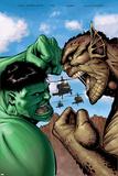 Hulk: Destruction No.2 Cover: Hulk and Abomination Prints by Trevor Hairsine